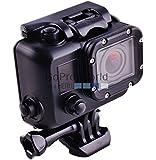 ブラックケース Gopro Hero 4/Gopro Hero 3/Gopro Hero 3+用 40メートル ダイビング 防水ハウジングケース 防水プロテクター [並行輸入品]