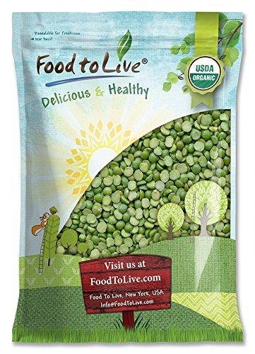 Food to Live Guisantes verdes Bio certificados de la fractura (Eco, Ecológico, kosher