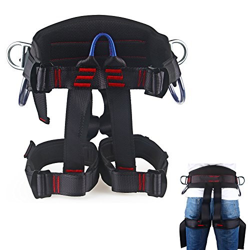 Thicken Wider Climbing Harness, Oumers Protect Waist Version Waistbelt Wider Safe Seat Belts For Mountaineering