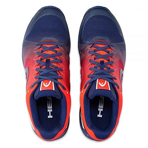 Head Zapatillas de Tenis de Material Sintético Para Hombre Multicolor Blue-Flame Orange