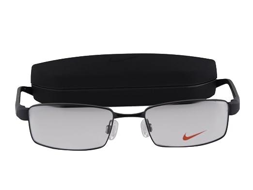 7b43223a580 Amazon.com  Nike 8162 Eyeglasses 50-17-140 Shiny Black 010  Clothing