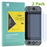MouKou Nintendo Switch Screen Protector 2 Pack Tempered Glass Screen Protectors for Nintendo Switch 2017