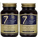 Solgar - No. 7 Vegetable Capsules 90 Count, reduces stress in joints & tired muscles - 2 Pack