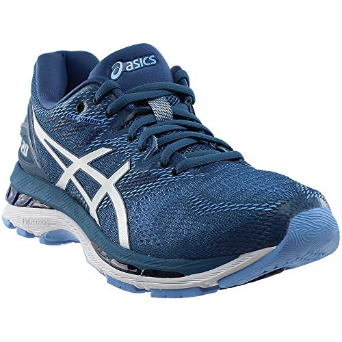 ASICS Women's Performance GEL-Nimbus 20 Running Shoe - T850N.401 (Azure/White - 6.5)