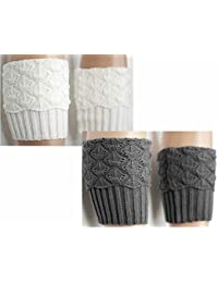 Women Winter Leg Warmer Cozy Soft Crochet Knit Boots Cuffs by Secret Life