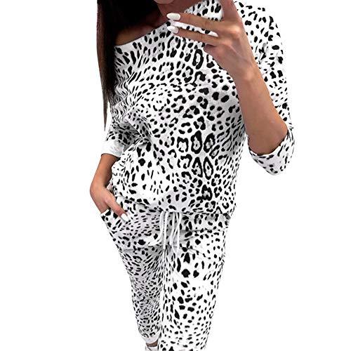 Longues Blanc De Sport Survêtements Ensemble Bringbring Femme Avec Top Camouflage,manches Pantalon BvCI8n8xq