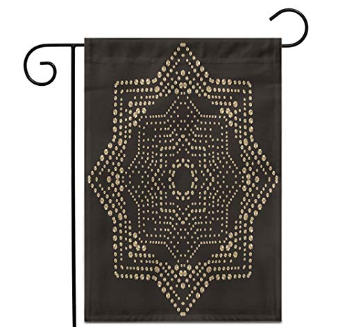 """Awowee 28""""x40"""" Garden Flag Christmas Gold Snowflake Crystal Precious Beautiful Jewelry Pattern Brilliant Outdoor Home Decor Double Sided Yard Flags Banner for Patio Lawn"""