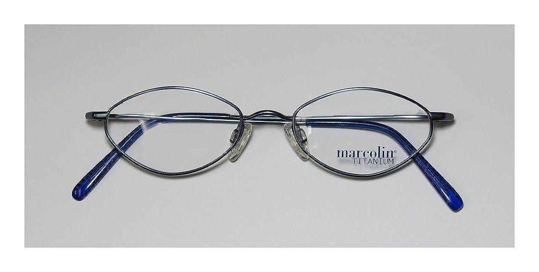 0339b6e59b Amazon.com  Marcolin 2031 Mens Womens Designer Full-Rim Shape Titanium  Light Weight Classy Eyeglasses Glasses (46-18-140
