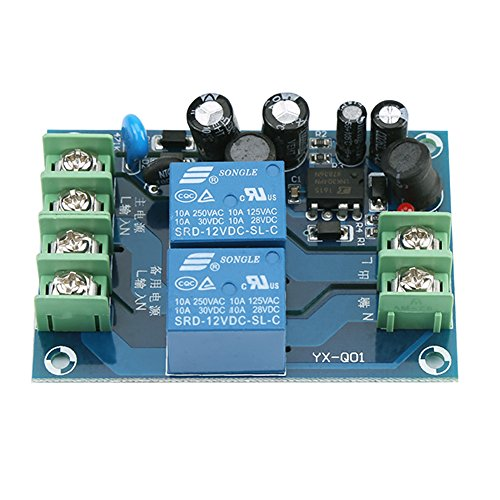 Power Supply Controller, AC 85-240V 110V 220V 230V 10A Dual Power Supply Automatic Switching Controller Module ()
