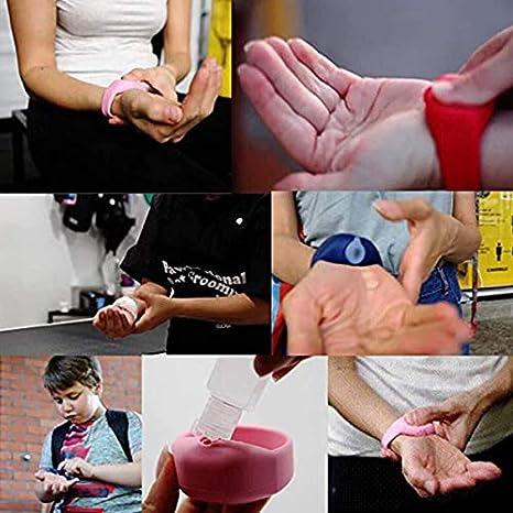 pulsera dispensadora de mano correa ajustable para mu/ñeca DreamH Dispensador de desinfectante de manos ni/ños 12 ml dispensador de reloj port/átil para adultos