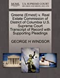 Greene (Ernest) v. Real Estate Commission of District of Columbia U.S. Supreme Court Transcript of Record with Supporting Pleadings