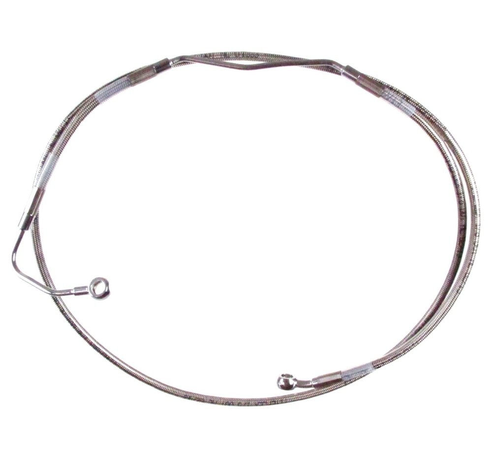 Hill Country Customs 10 Over Stock Front Stainless Braided Upper ABS Brake Line for 2009-2013 Harley-Davidson Touring models w//ABS brakes HC-401461