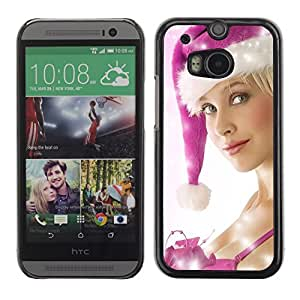 YOYO Slim PC / Aluminium Case Cover Armor Shell Portection //Christmas Holiday Sexy Hot Girl Woman 1026 //HTC One M8