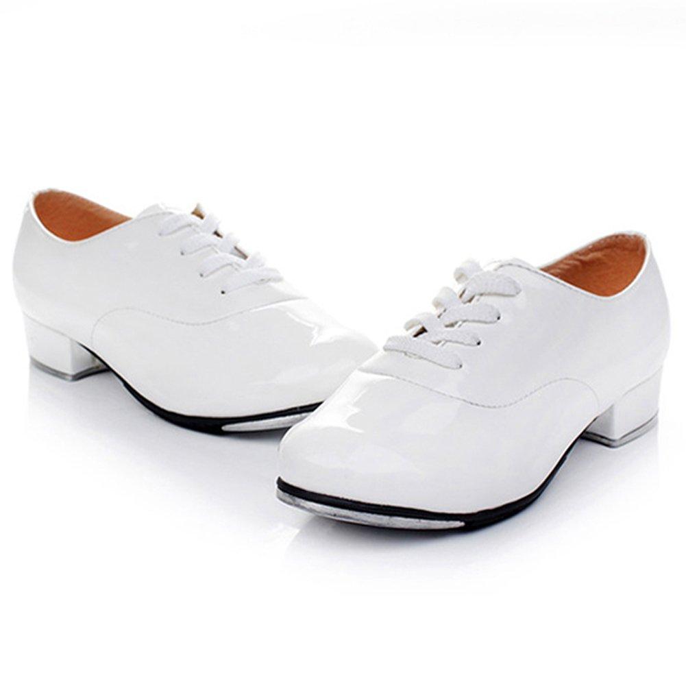 Pierides Little Kids Boys Tap Shoes with 1.2' Heel Pierides-T0003B