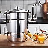 Toolsempire Fruit Steam Juicer Stainless Steel Vegetables Juicer Steamer pot, 11 Quart Multipots Kitchen Cookware for Making
