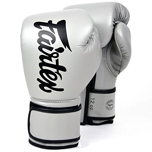 Fairtex BGV14 Microfibre Boxing Gloves Muay Thai Boxing, MMA, Kickboxing,Training Boxing Equipment, Gear for Martial Art (Gray, 10 oz)