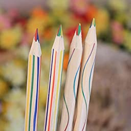 Towallmark(TM) 10pcs Rainbow Color Pencil 4 in 1 Colored Pencils For Drawing Stationery