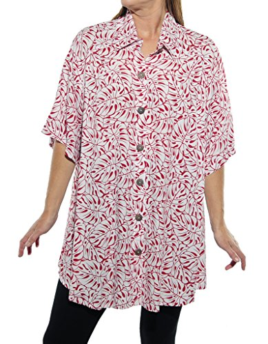 WeBeBop Womens Plus Size Tahiti Red New Tunic Top