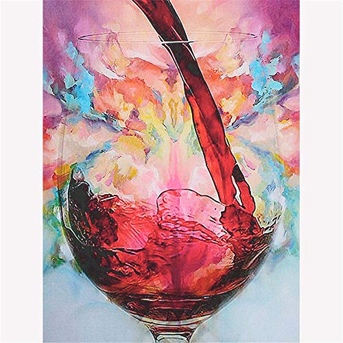 Paintworks Paint by Number Kit for Adults Kids Beginner, DIY Canvas Painting by Numbers for Home Decoration,Red Wine,16X20Inch