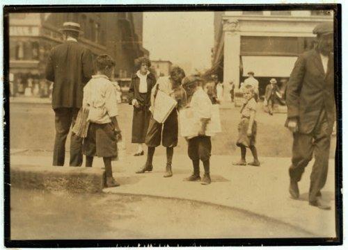 HistoricalFindings Photo: Newsies,Newsboys,Newark, Jersey,August 1924,Child Labor,Lewis Wickes Hine
