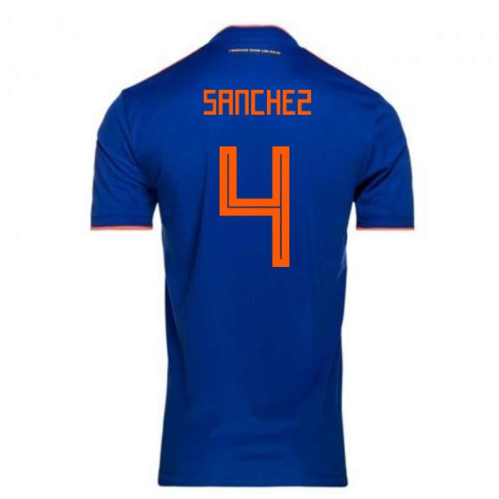 超美品の 2018-2019 Colombia Away Adidas Football Football Shirt Medium (Davinson Chest Sánchez 4) B07H9SN1PC Medium 38-40