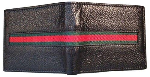 Black Leather Green Stripe - 1