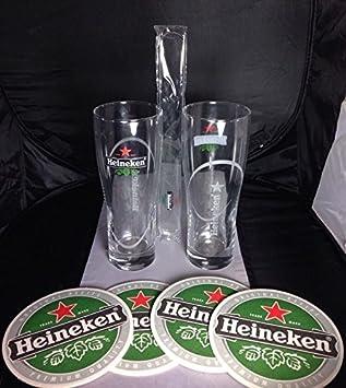 Krups Beertender lote de accesorios para - 2 juego de gafas con espuma espumadera Heinken: Amazon.es: Hogar