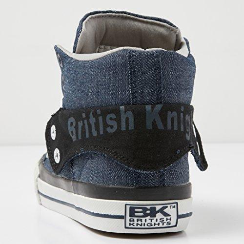 top Svart British Sneaker Knights Kvinners Høy Navy Roco FIwwTqaxB