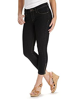65247ce7 Lee Perfect Fit Just Below the Waist Skinny Ankle Crop Stretch Jeans Pants  (14, Empire) at Amazon Women's Jeans store
