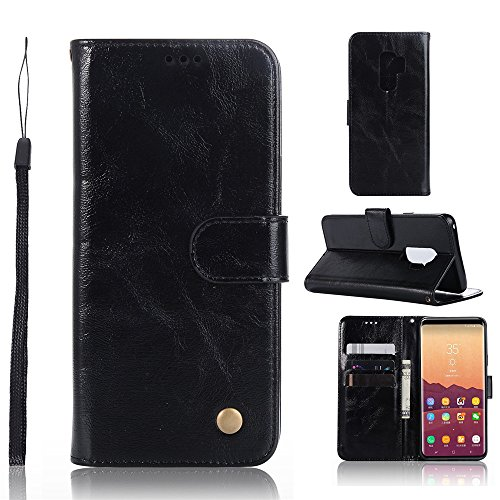Style Riser (Galaxy S9 Plus Case, Asstar [Folio Style] [Card Slots Holder] Luxury PU Leather Wallet Flip Magnetic Shockproof Protective Case Cover for Samsung Galaxy S9 Plus (Black))