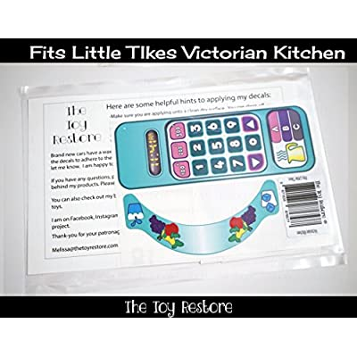 The Toy Restore New Replacement Decals Fits Little Tikes Victorian Kitchen Pastel: Toys & Games