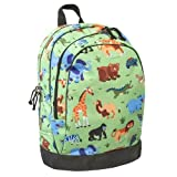 Wildkin 15 Inch Backpack, Extra Durable Backpack with Padded Straps and Interior Moisture-Resistant Lining, Perfect for School or Travel, Olive Kids Design – Wild Animals