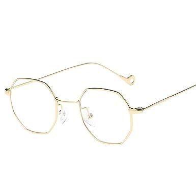Amazon.com: OUBAO Gafas de sol casuales transparentes ...