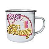 Beauty Beauty Spa Retro,Tin, Enamel 10oz Mug o689e
