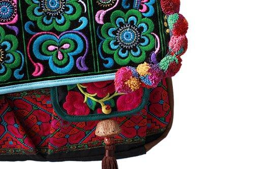 Exquisite Handtasche Schulter Durch Koerper getragene Erlesene Tasche 100% Handgemachte Kunstwerk # 137 - FREIE FRACHT
