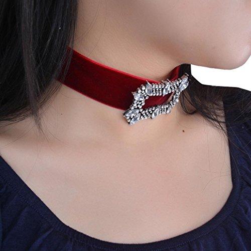 Sinwo Women Crystal Rhinestone Charm Ladies Jewelry Necklace Women's Gift (Tone Wood Bangle)