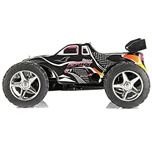RC car, Rabing 2WD 1:32 Scale Remote Control Electric Racing Car High Speed Vehicle with Rechargeable Battery(Black)