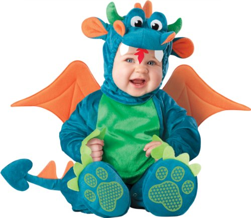 InCharacter Baby Dinky Dragon Costume, Teal/Green, Small (6-12