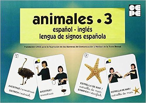 Animales 3. Baraja Español-ingles. Lengua De Signos Española Descargar PDF Gratis