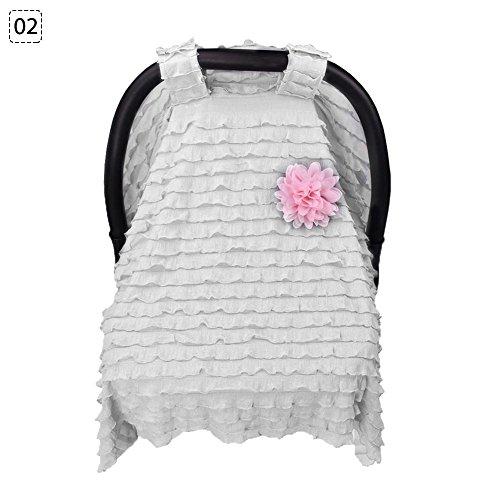 ZHUOTOP Baby Car Seat Canopy Cart Cover Newborn Nursing Keep Infant Warm White