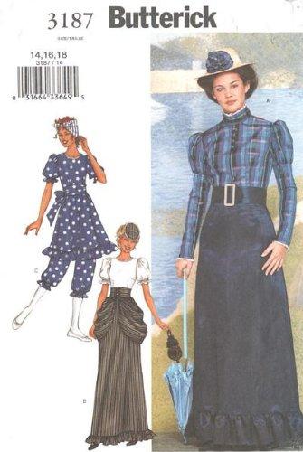 Butterick 3187 Victorian Bathing Dress Costume Pattern 14-16-18