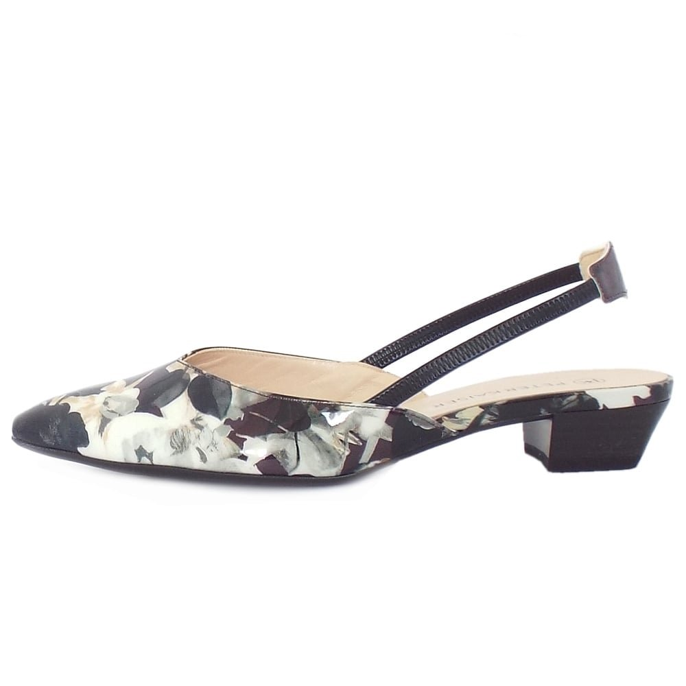 super popular 46c45 90347 Peter Kaiser Carsta Patent Leather Slingback Shoes in Unique ...