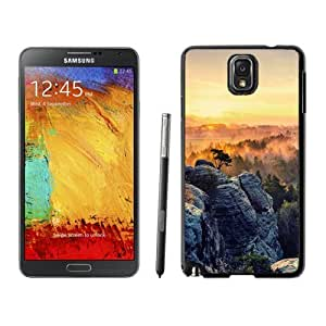 Custom and Personalized Cell Phone Case Design with Jungle Rocks Sunset Fog Galaxy NOTE 3 N900P Wallpaper