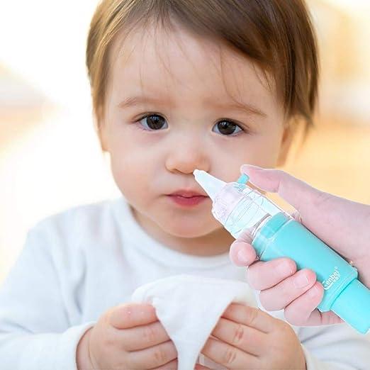 gaeruite Aspirador Nasal para bebés, Aspirador Manual portátil para bebés Aspirador de Nariz recién Nacido Aspirador con 3 Niveles de succión para recién Nacidos Niños pequeños: Amazon.es: Hogar