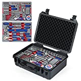 WORKPRO W009043A 110-Piece Home Repair Tool Set - Chrome-vanadium, Packed in Waterproof Case for DIY, Auto and Home Maintenance