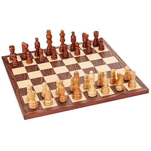 Classic Chess Set - Walnut Wood Board 12 in