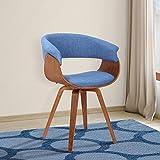 Armen Living LCSUCHBLUE Summer Dining Chair, Blue