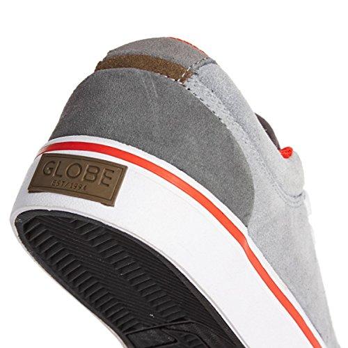 Globe GS - Zapatillas de Deporte Unisex Bebé gris/rojo
