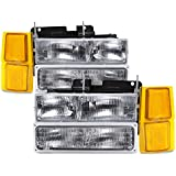 NEW CHEVY OEM STYLE HEADLAMPS HEADLIGHTS-8PC SET SILVERADO-SUBURBAN-BLAZER