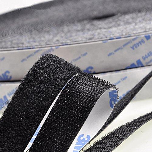- Nylon Hook Loop Magic Tape, Heat Resistant Sticky Back, Self Adhesive Fastener Bonding Craft DIY Handmade Quilting Curtain, Black